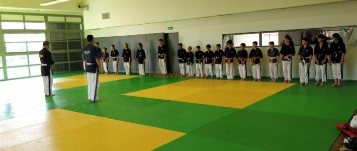 Entrainement des compétiteurs de la Fédération Française de Karaté de YOSEIKAN BUDO